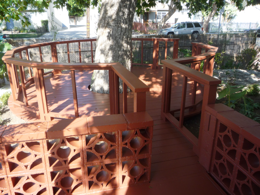 Deck Around Tree Construction